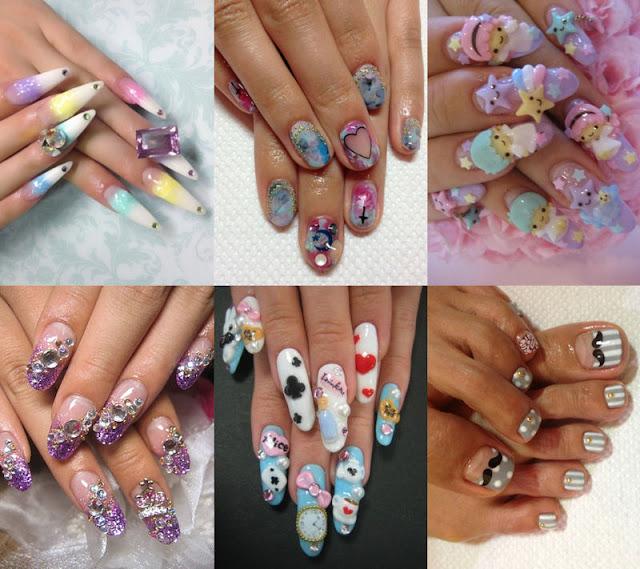 Japanese Nail Salon Art: Nail Week - Bloomzy