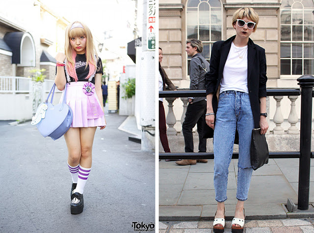 Street Style Japanese Tokyo Vs British London Bloomzy
