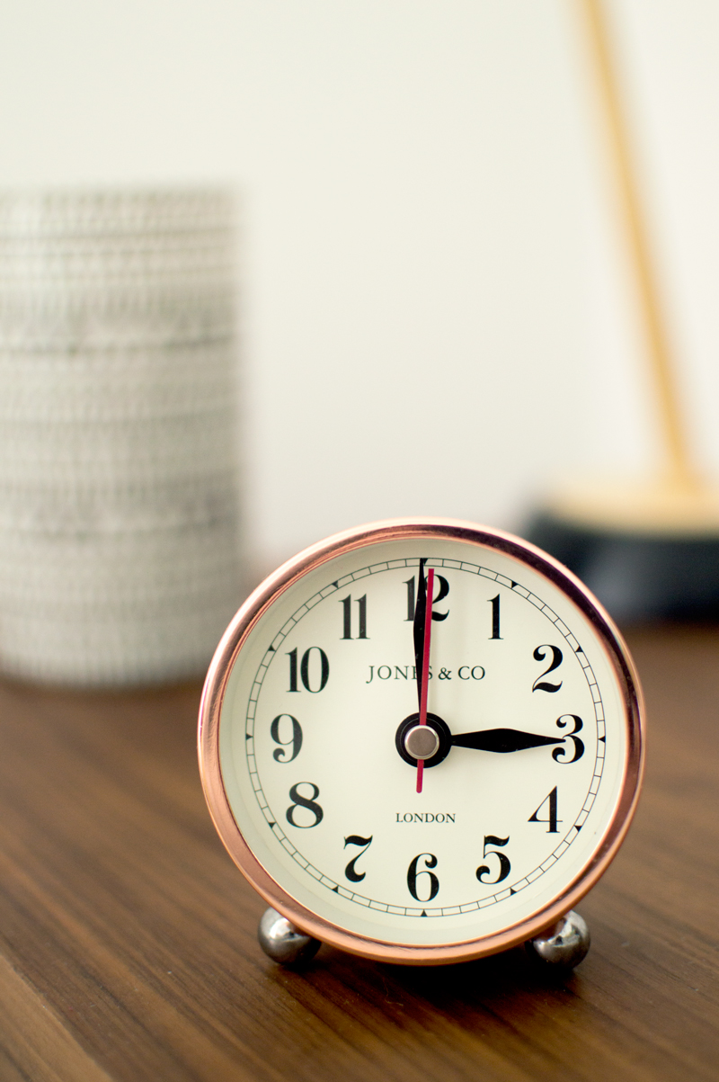george-asda-homeware-lifestyle-home-interior-alarm-clock-copper-bronze