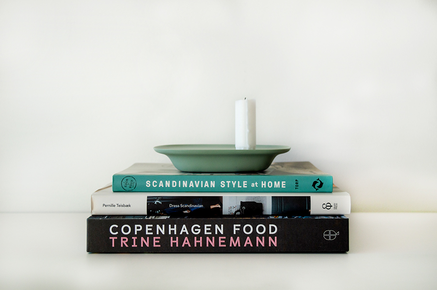 scandi lover gift guide showing variety of books on Copenhagen and Scandinavia