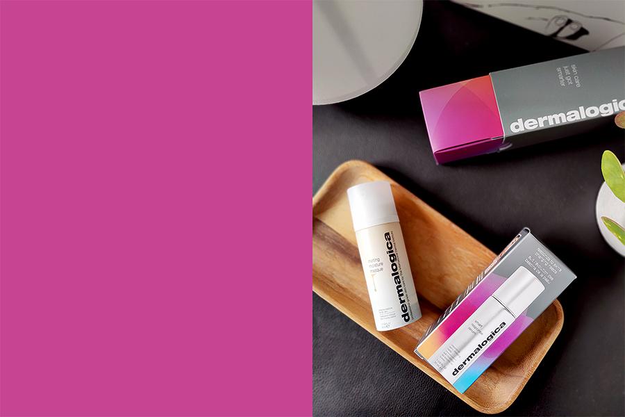 Summer Beauty Essentials including Dermalogica smart response serum and moisture masque